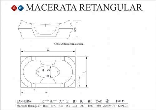 Tecnico Macerata Retangular